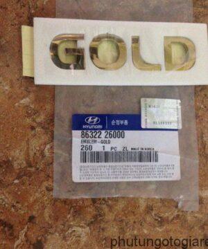 Ốp chữ Hyundai Santafe Gold